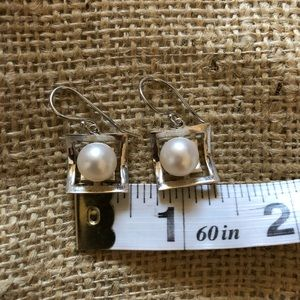 Sterling Silver with Pearls Earrings